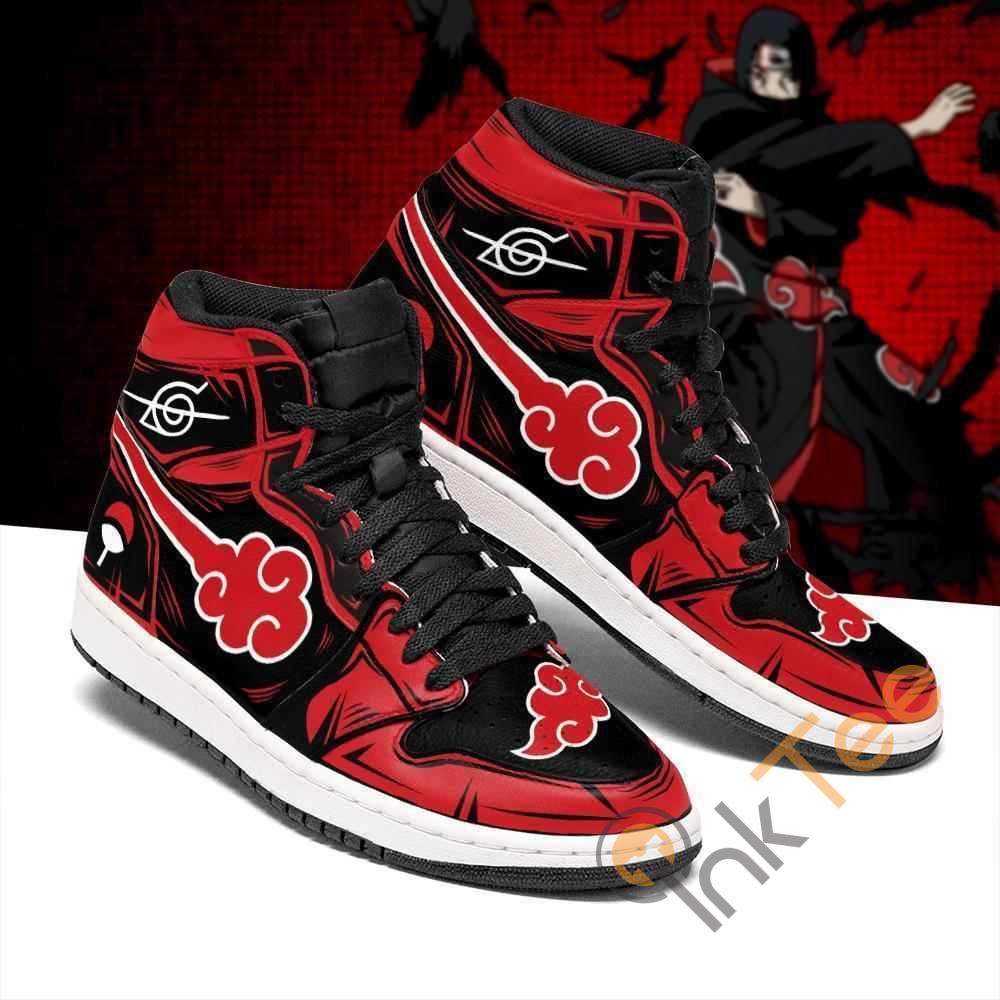 Itachi Akatsuki Symbol Naruto Sneakers Anime Air Jordan Shoes