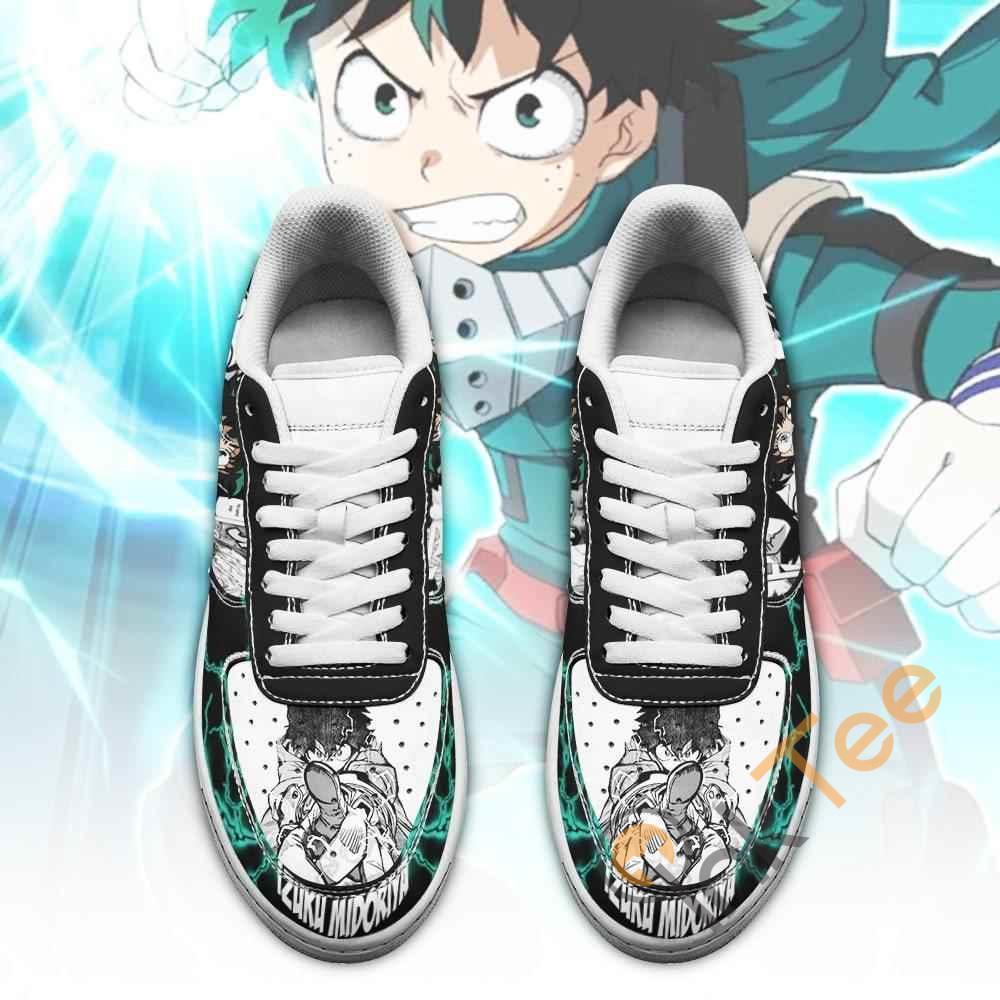 Izuku Midoriya Deku Custom My Hero Academia Anime Nike Air Force Shoes