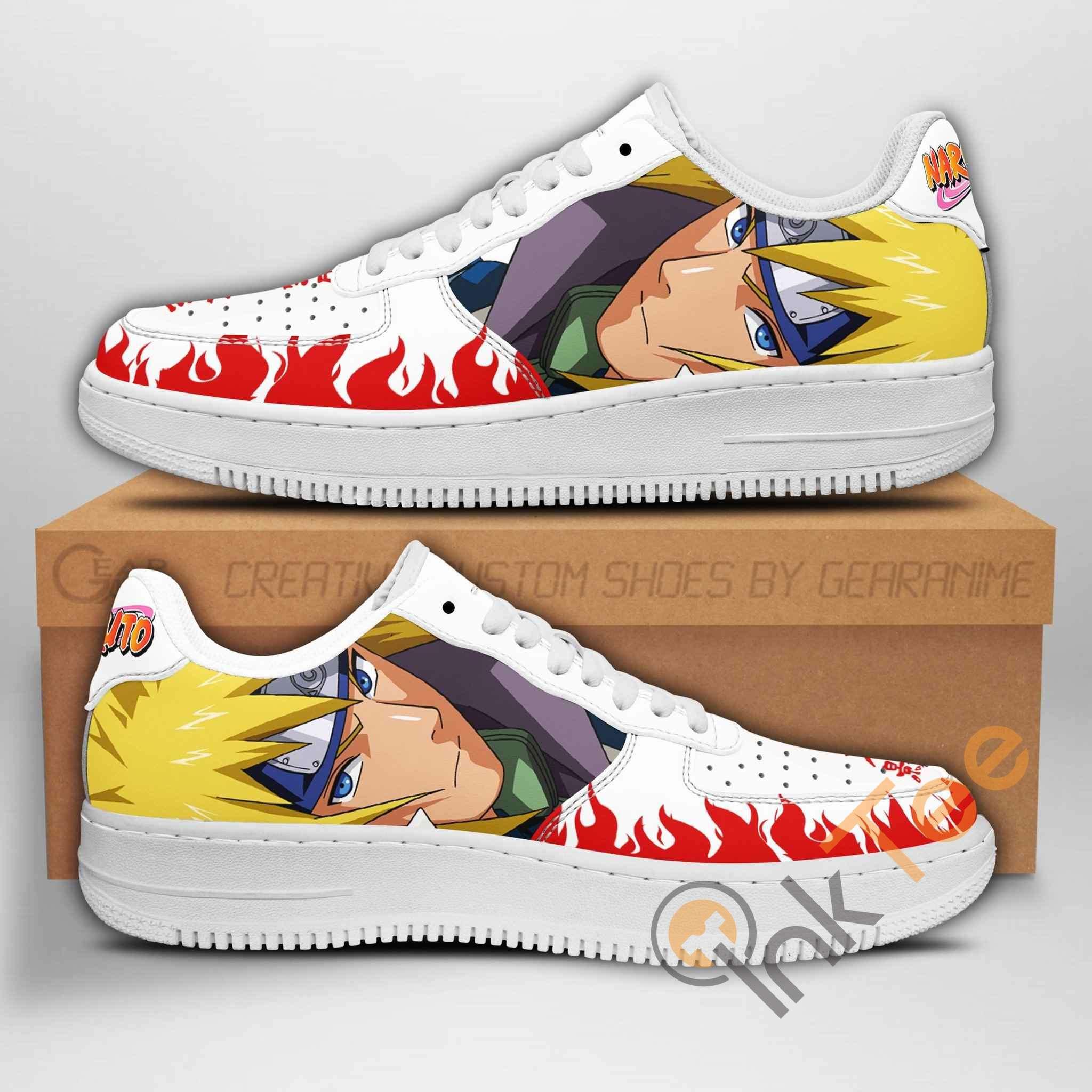 Minato Naruto Anime Nike Air Force Shoes