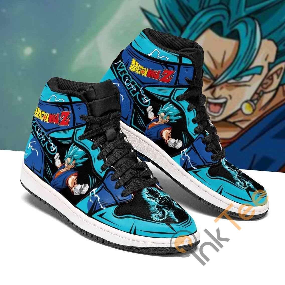 Vegito Blue Dragon Ball Z Anime Sneakers Air Jordan Shoes