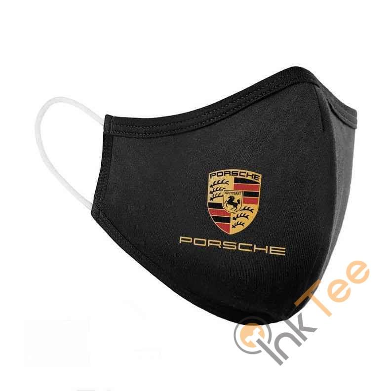 Porsche Logo Embroidered Washable Face Mask
