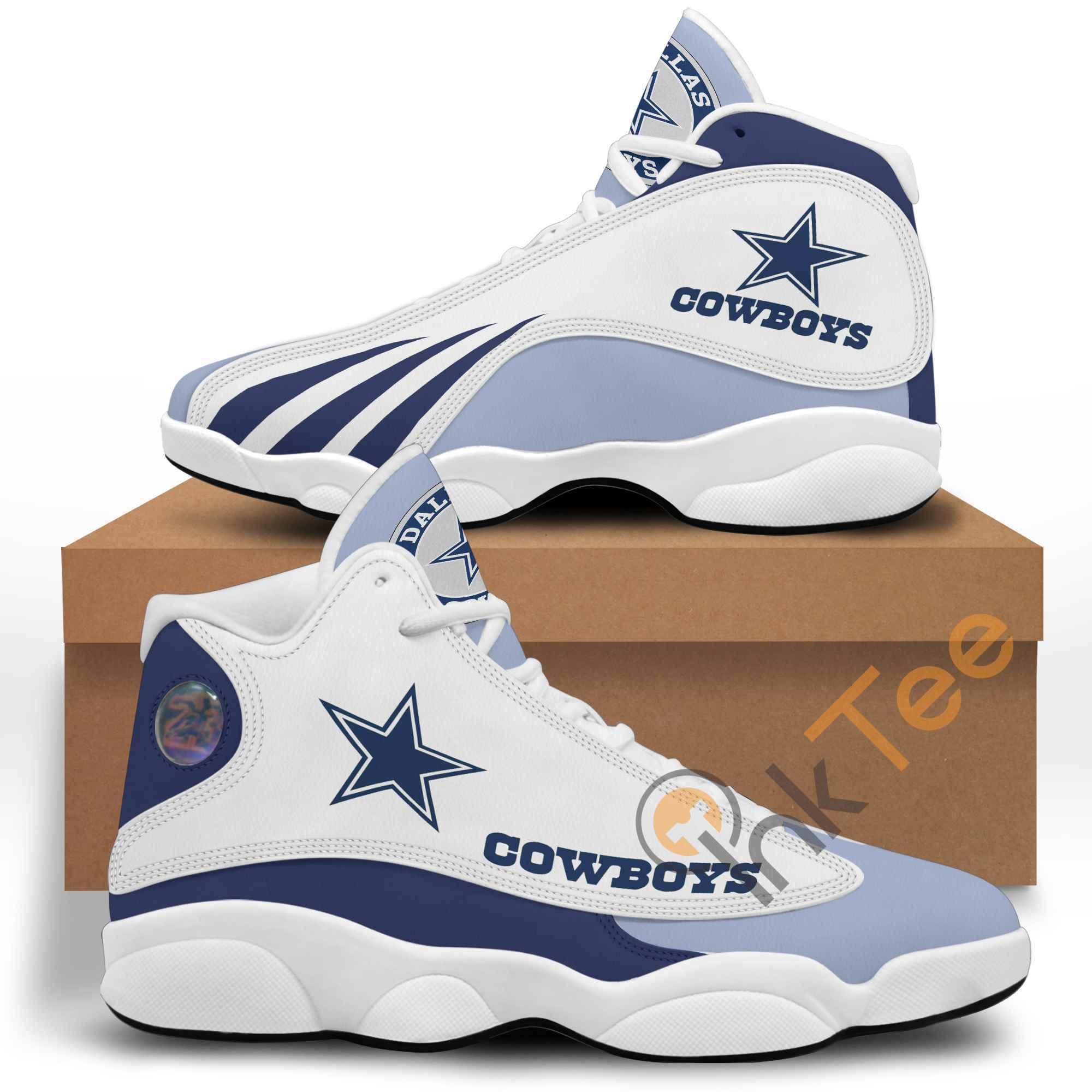 Nfl Dallas Cowboys Air Jordan 13s Customized Shoes