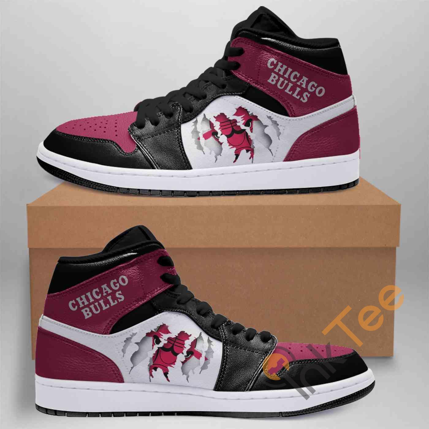 Chicago Bulls Nba Custom Air Jordan Shoes