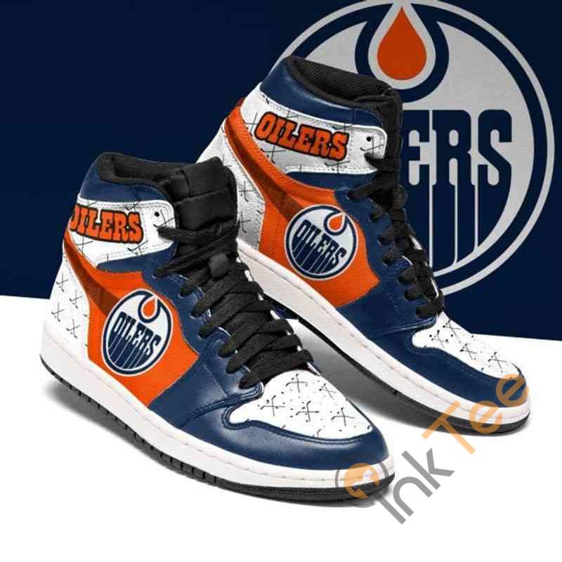 Edmonton Oilers Ice Hockey Custom Air Jordan Shoes