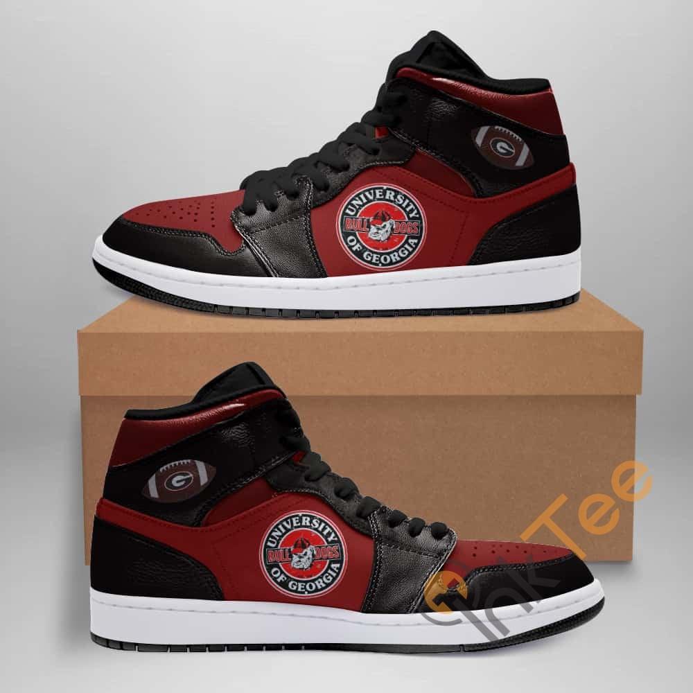 Georgia Bulldogs American Football Custom Air Jordan Shoes
