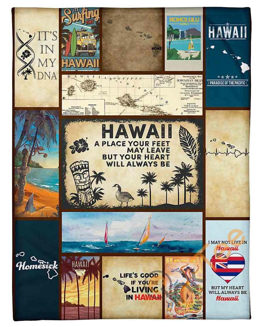 Hawaii Your Heart Will Always Be Fleece Blanket