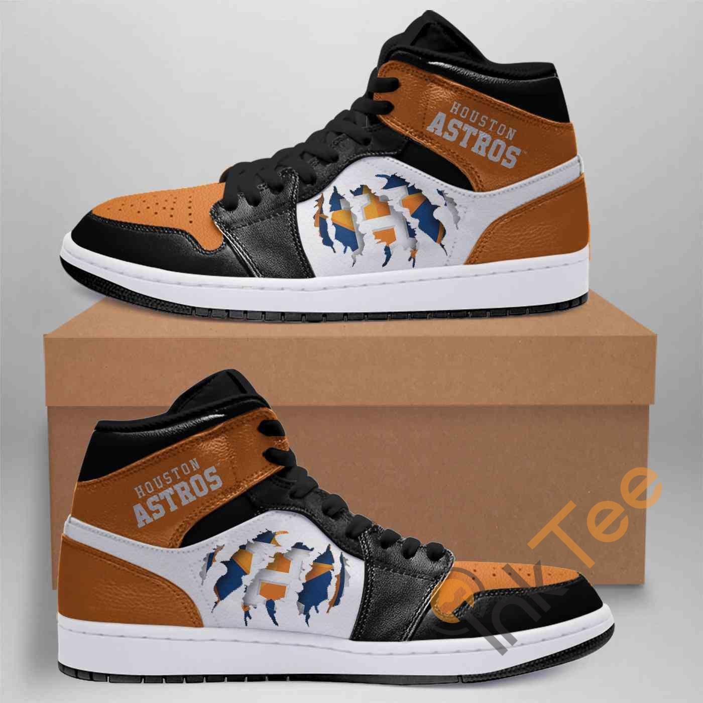 Houston Astros Mlb Custom Air Jordan Shoes