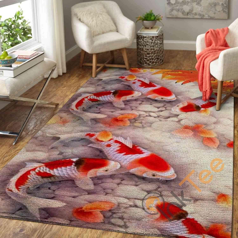 Koi Fish Area Amazon Best Seller Sku 3787 Rug