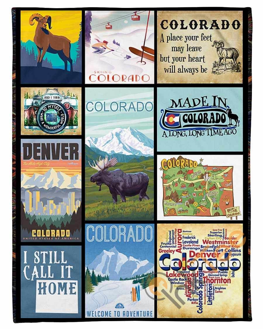 Made In Colorado A Long Time Ago Fleece Blanket