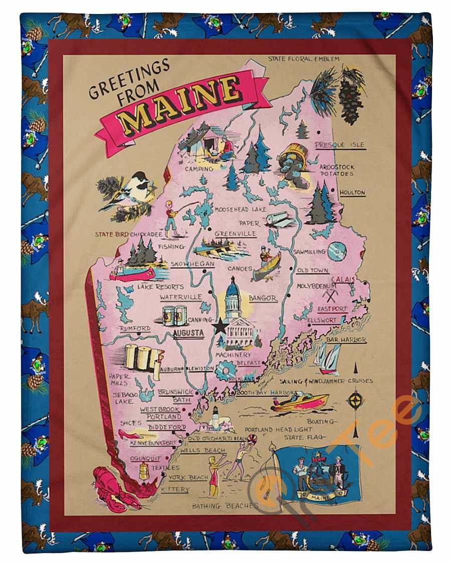 Maine Blanket Fleece Blanket