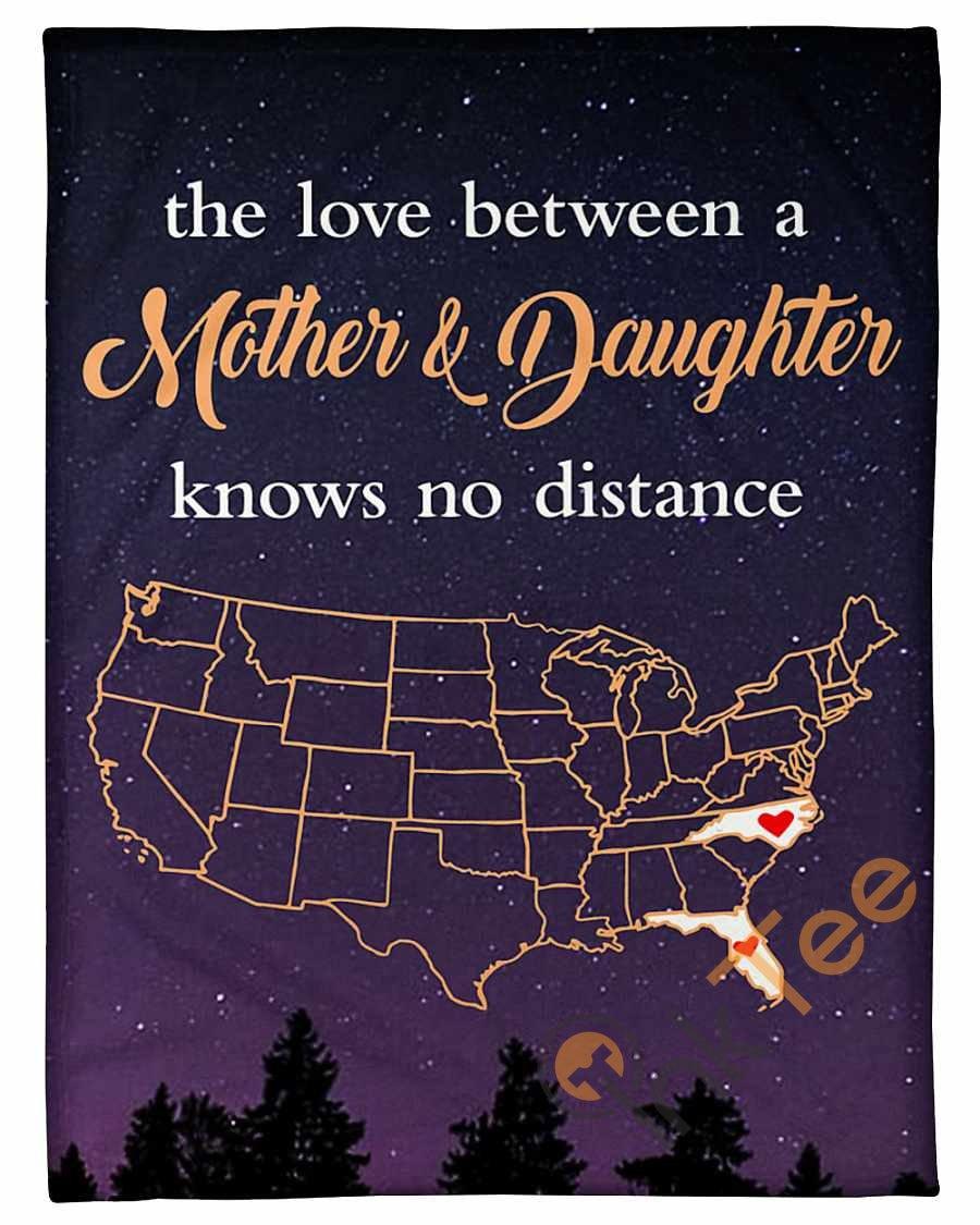 North Carolina Florida Love Mother And Daughter Fleece Blanket