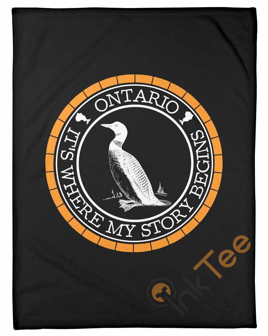 Ontario Where My Story Begins Fleece Blanket