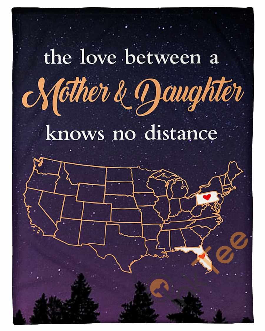 Pennsylvania Florida The Love Mother And Daughter Fleece Blanket