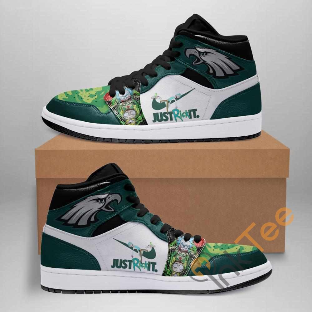 Rick And Morty Philadelphia Eagles Custom Air Jordan Shoes
