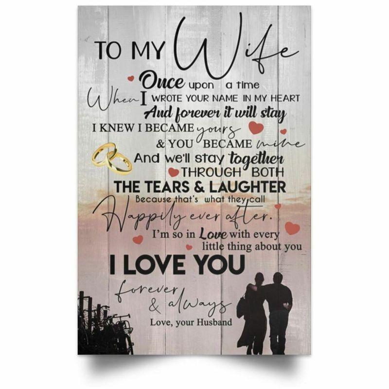 Framed photo paper poster I Love You