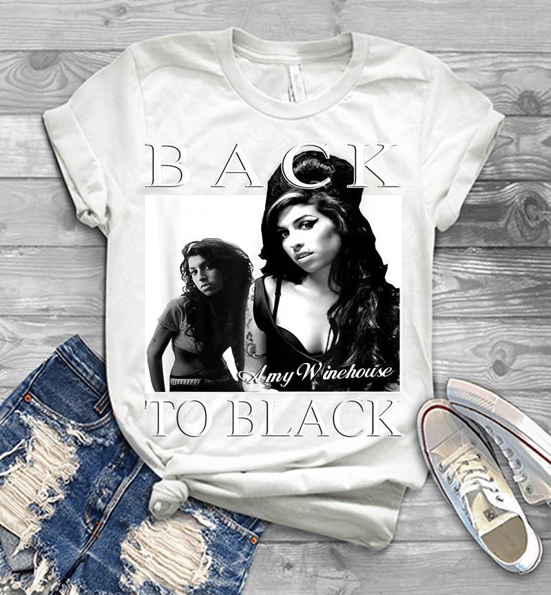 Amy Winehouse T Shirt Rebel Logo Back to Noir Nouveau Officiel Homme