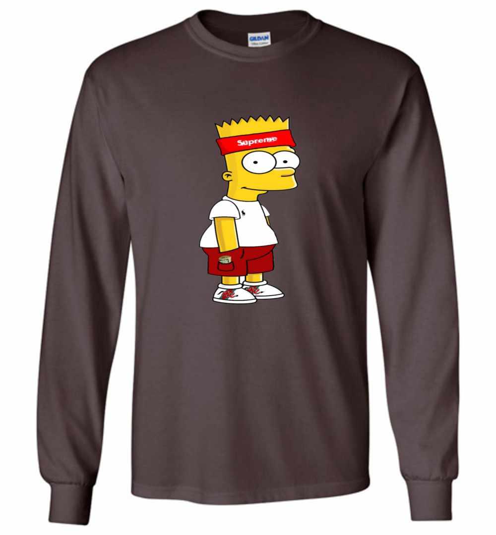 134a2f0080f Hypebeast Bart Supreme Gucci Long Sleeve T Shirt Amazon Best Seller
