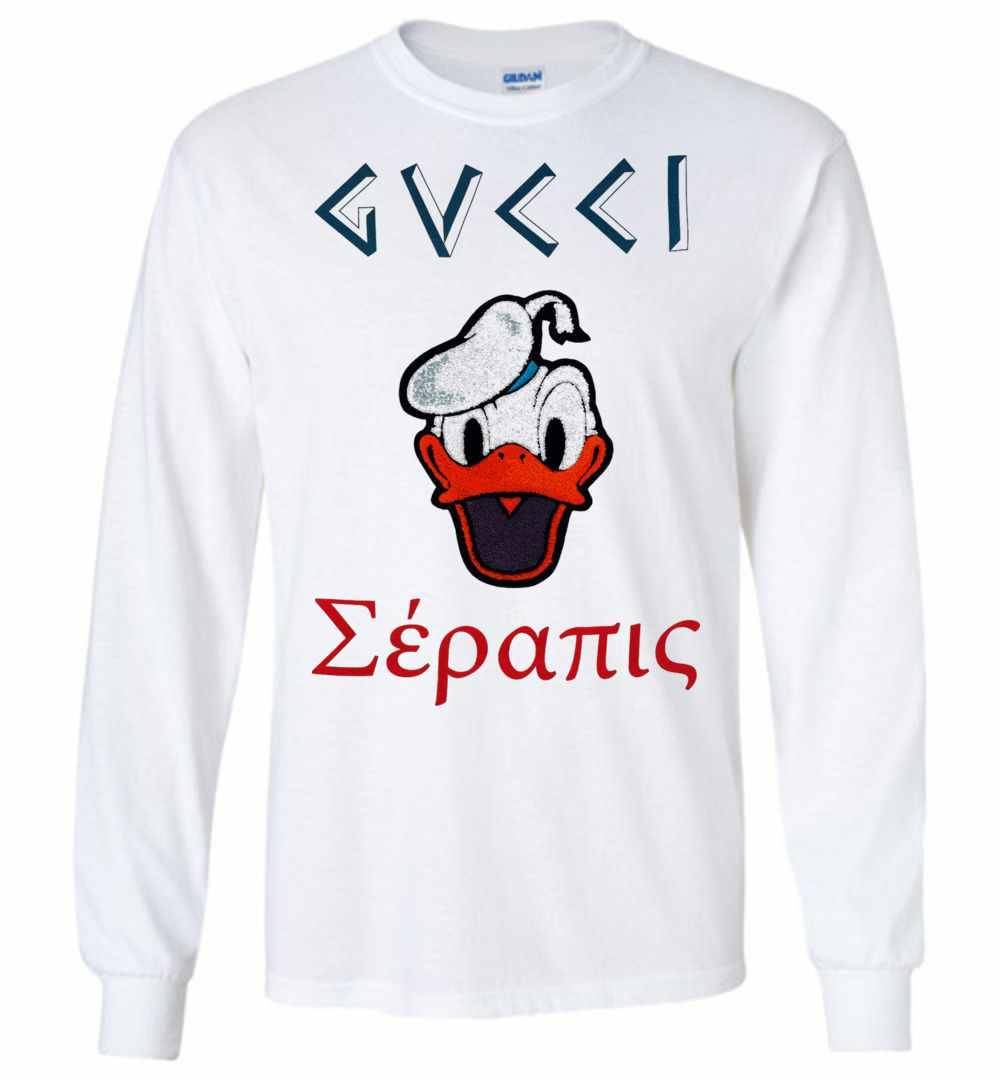 3a7667fffe4 Gucci With Donald Duck Long Sleeve T Shirt Amazon Best Seller