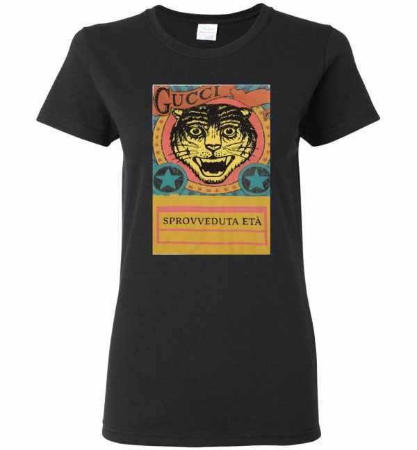 Gucci Tiger Sprovveduta Età De Rerum Natura Women's T Shirt Amazon Best Seller