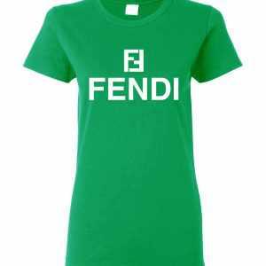 Fendi Logo Women's T Shirt Amazon Best Seller