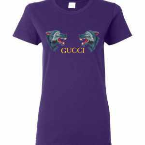 Gucci Wolf Head Appliqués Women's T-Shirt