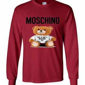 Moschino Bear Long Sleeve T-Shirt