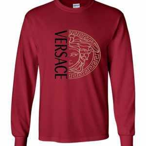 Versace Half Face Long Sleeve T-Shirt