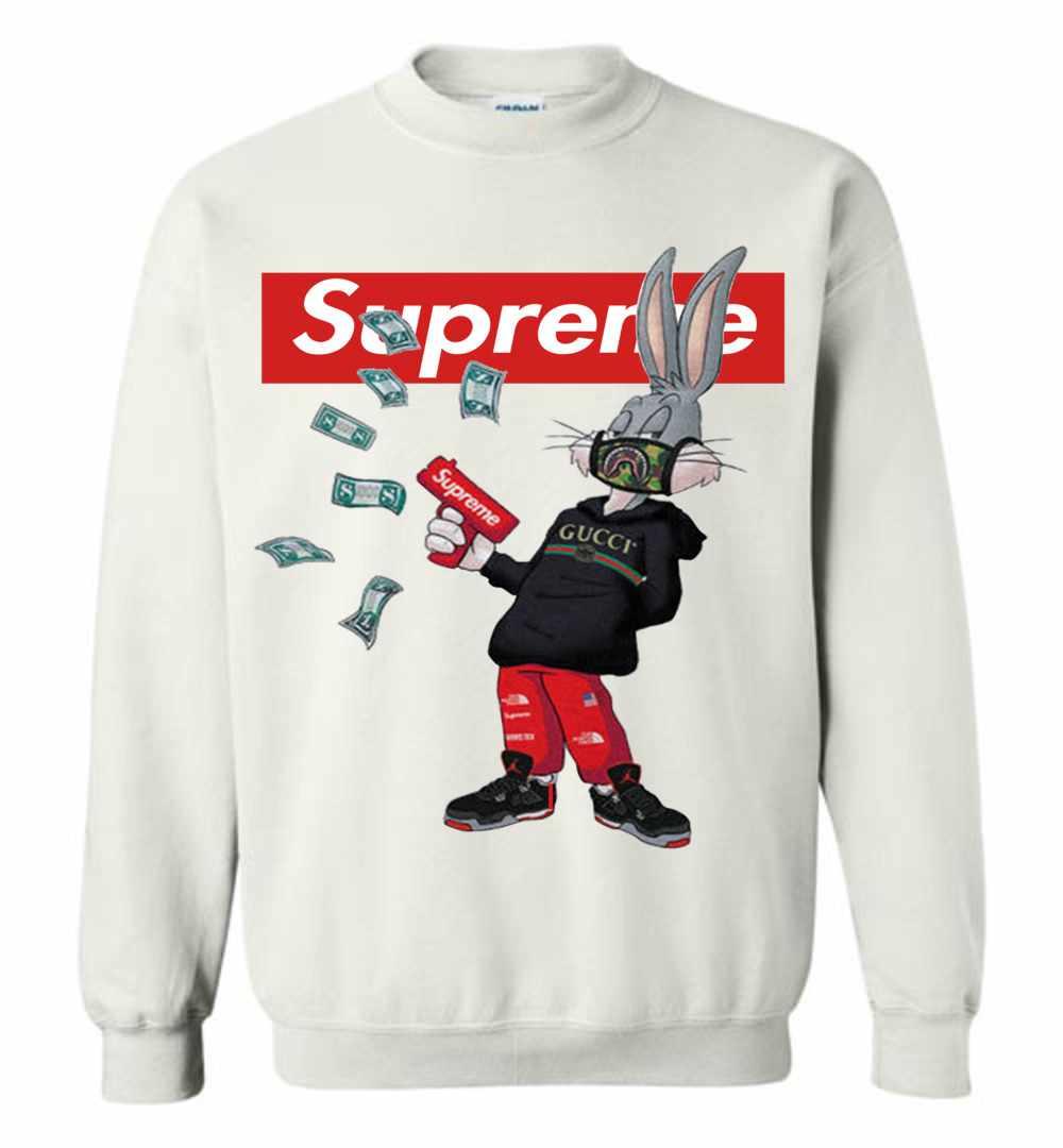 2535c6ef Bugs Rabbit Supreme And Gucci Mashup Sweatshirt