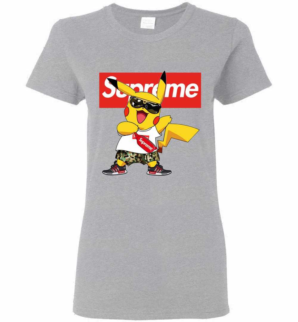 e3635796 Pikachu Supreme Pokemon Women's T Shirt Amazon Best Seller
