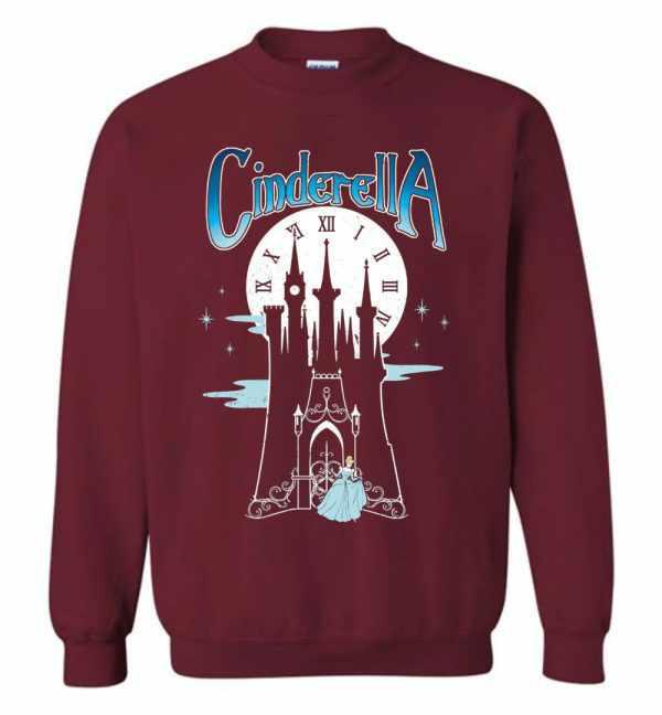 Disney Cinderella Stroke Of Midnight Castle Graphic Sweatshirt Amazon Best Seller