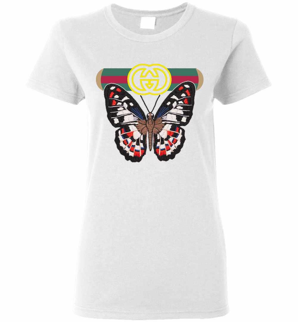 87bbf4980071 Gucci Butterfly Women's T Shirt Amazon Best Seller