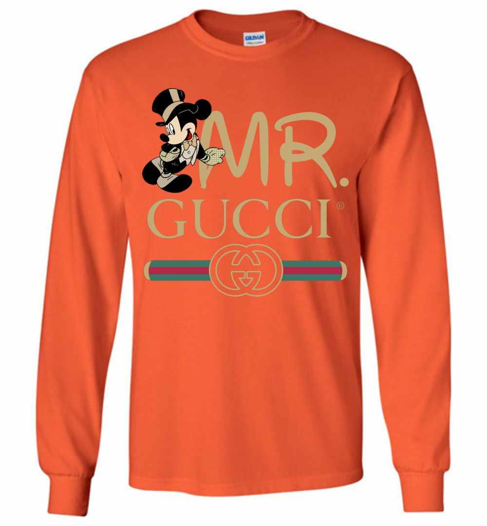 7ac0f5e1 Gucci Couple Disney Mickey Valentine's Day 2019 Long Sleeve T Shirt Amazon  Best Seller
