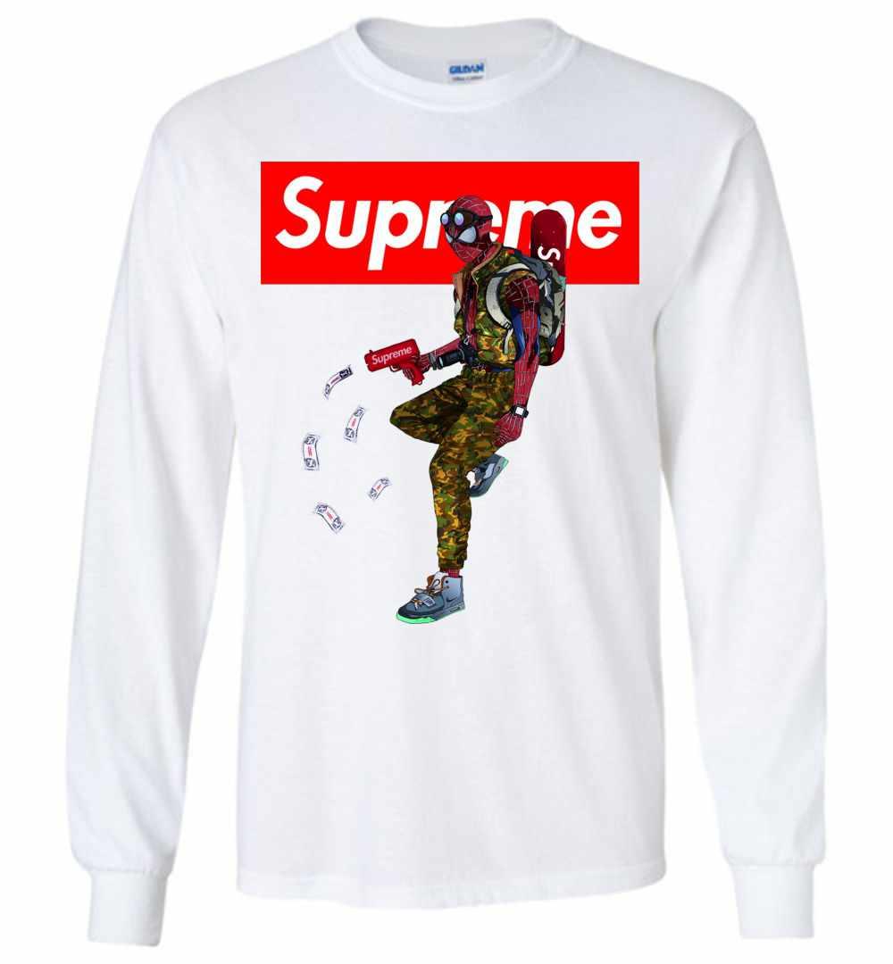 cf00c8aea Supreme Spiderman Funny Long Sleeve T Shirt ...