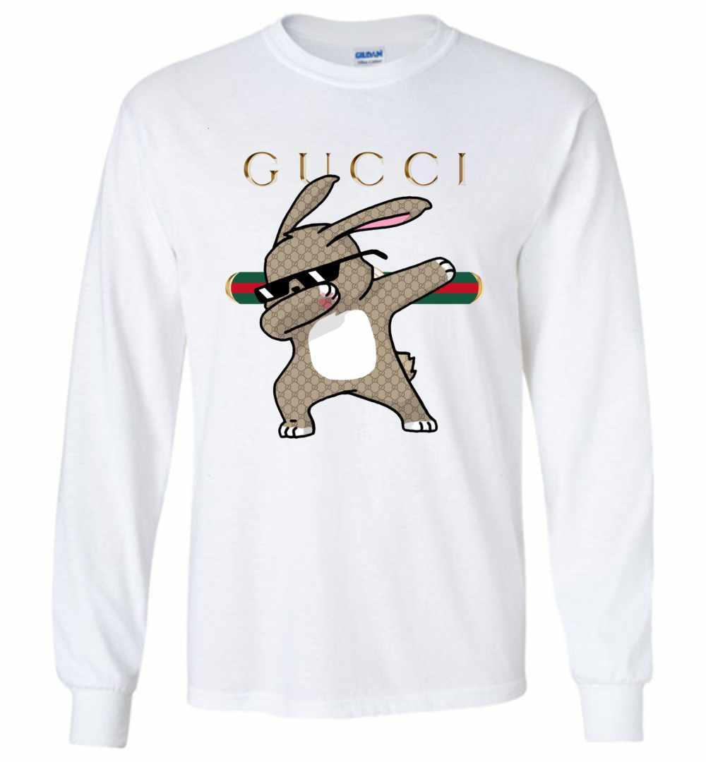 99f90975045 Rabbit Gucci Dabbing Long Sleeve T Shirt Amazon Best Seller