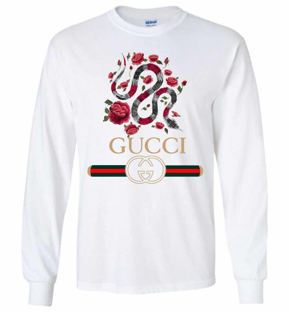 ddf34d4d353 Gucci Logo Snake 2018 Long Sleeve T Shirt Amazon Best Seller