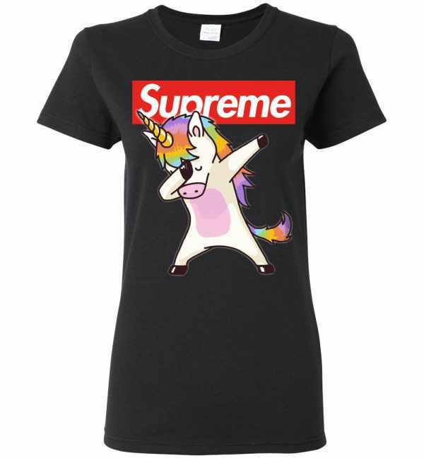 Supreme Unicorn Dabbing Women's T Shirt Amazon Best Seller