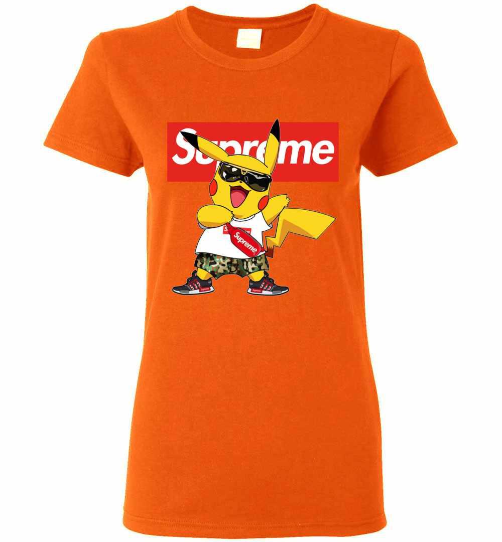 f249c246 Pikachu Supreme Women's T Shirt Amazon Best Seller