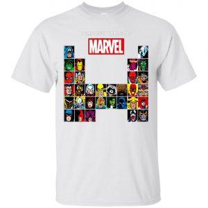 Marvel Periodic Table Of Heroes Villains Retro Men's T-Shirt