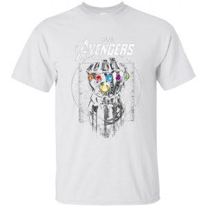 Marvel Infinity War Geo Gauntlet Drawing Men's T-Shirt