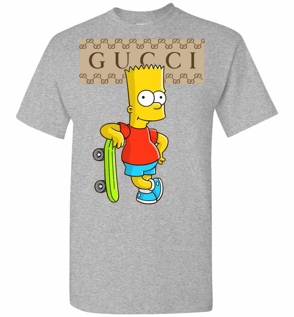 695b739f9 Gucci Bart Simpson Men's T Shirt Amazon Best Seller