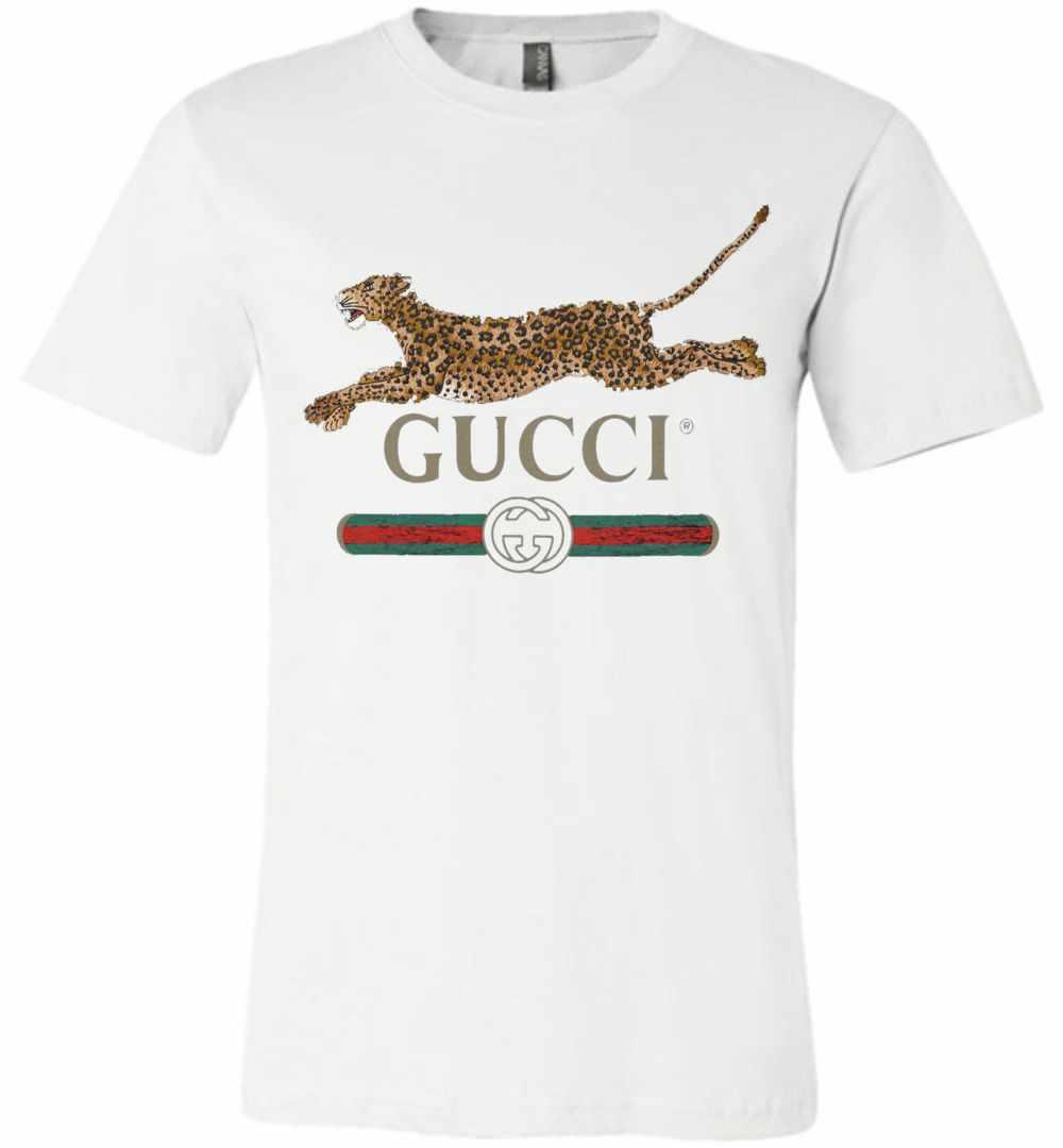 ef2b95d548b7 Gucci And Leopard Premium T shirt ...