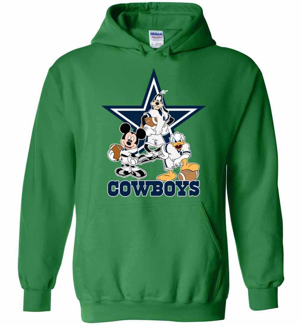 5c9412234 Mickey Donald Goofy The Three Dallas Cowboys Football Hoodies Amazon Best  Seller