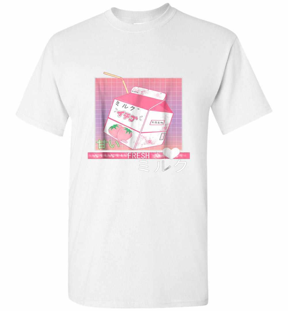 90s Japanese Otaku Stylish Aesthetic Milk Men's T-shirt
