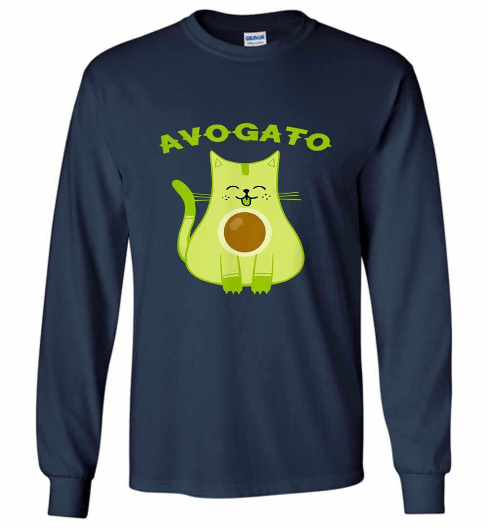 ef5e0ded6 Avogato Funny Avo Gato Cinco De Mayo Cat Pun Long Sleeve T shirt Amazon  Best Seller