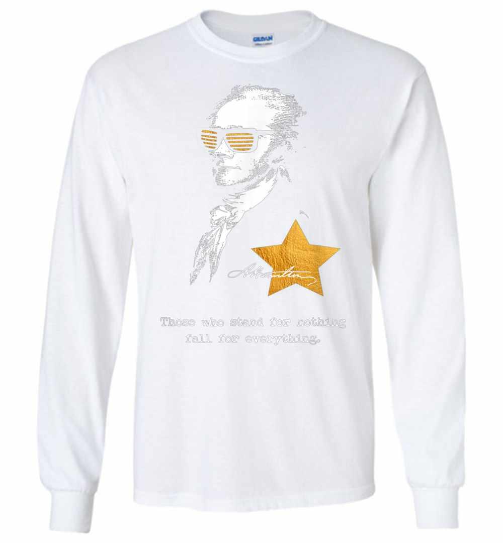 Alexander Hamilton Sunglasses Crazy Nerd Long Sleeve T shirt Amazon Best Seller