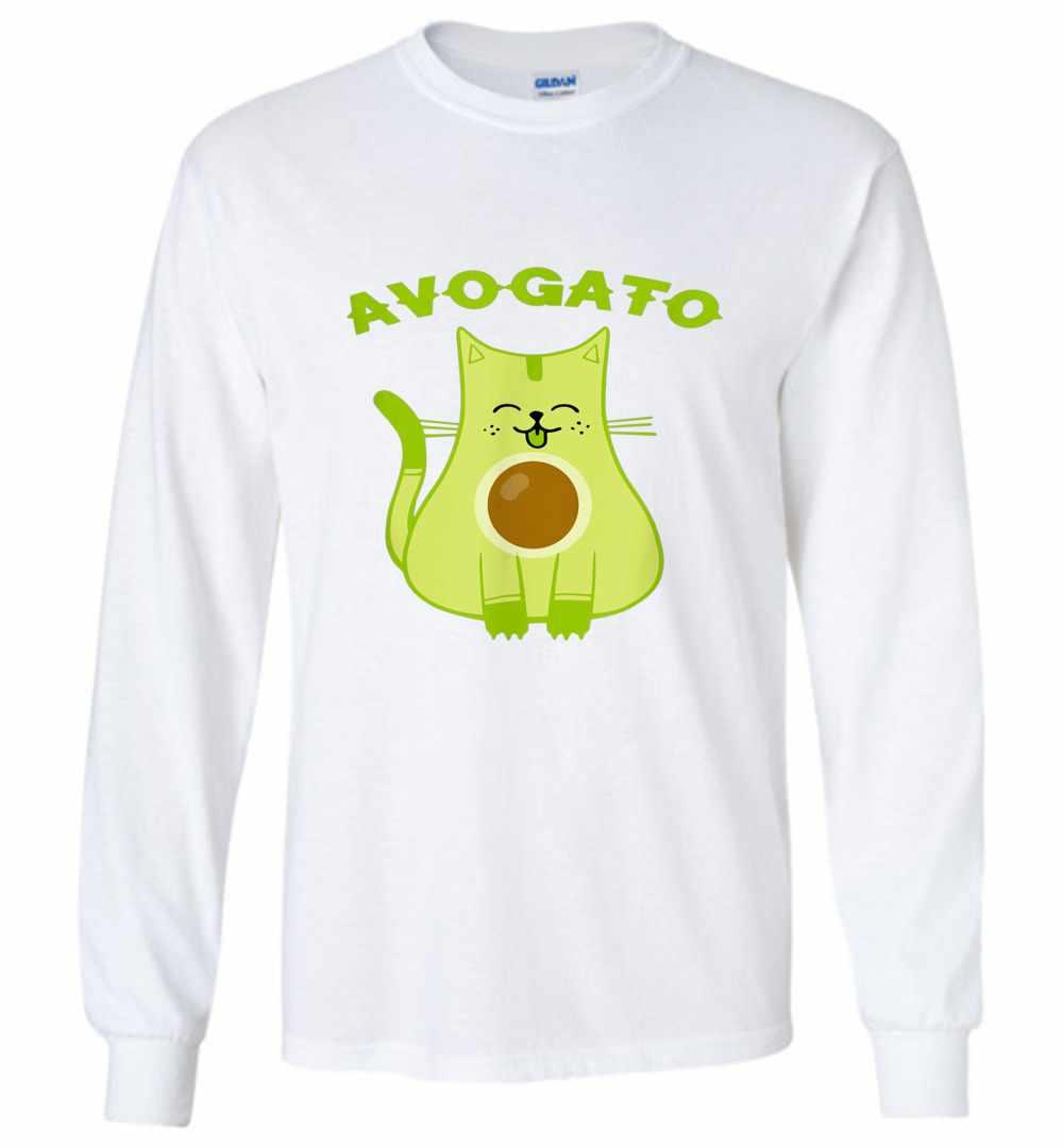 b81d63643 Avogato Funny Avo-Gato Cinco De Mayo Cat Pun Long Sleeve T-shirt