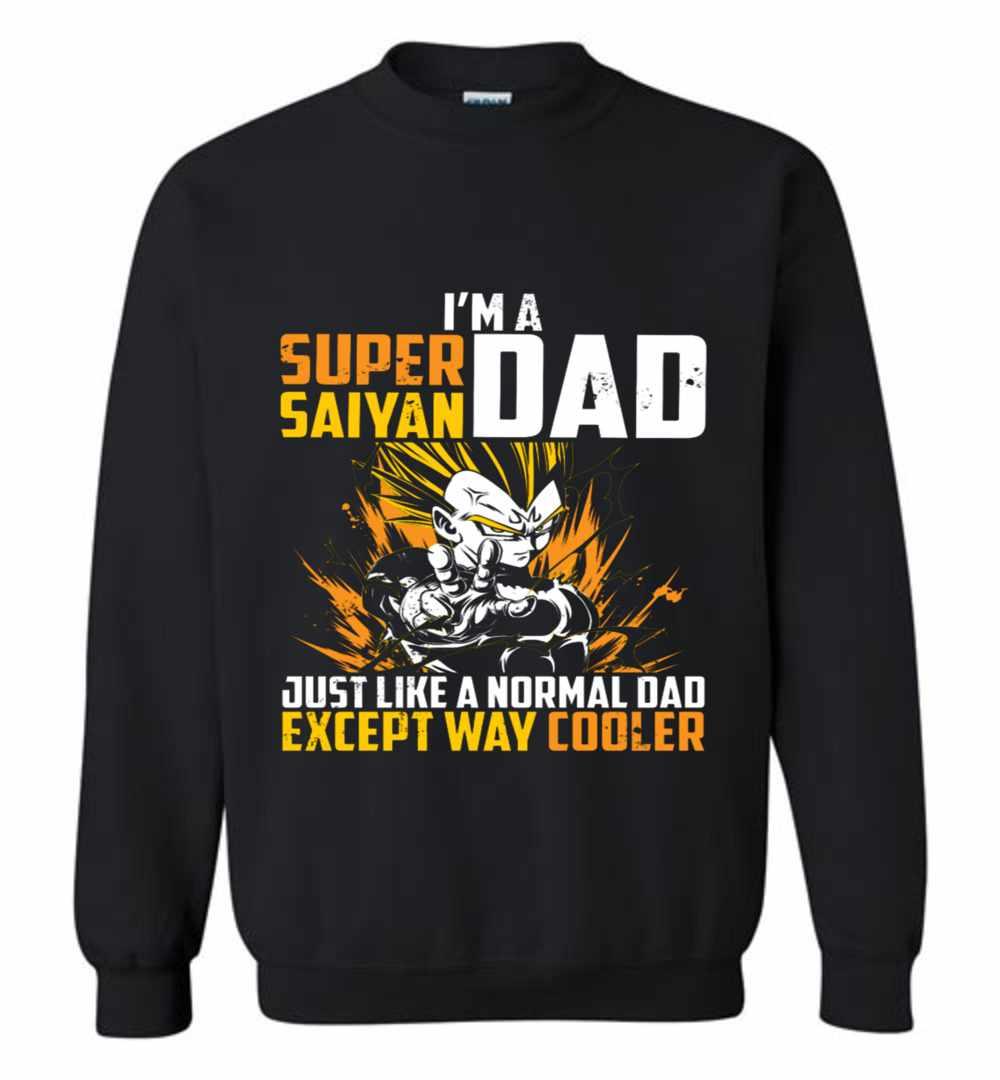 1178371f0 Dragon Ball Super Saiyan Dad Majin Vegeta Sweatshirt Amazon Best Seller