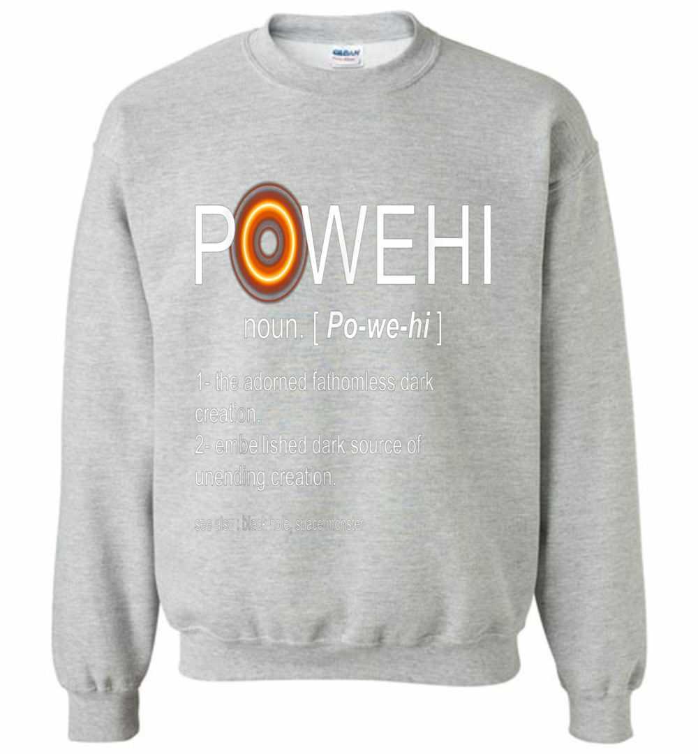 Black Hole Photo Firstever 2019 Name Powehi Meaning Sweatshirt