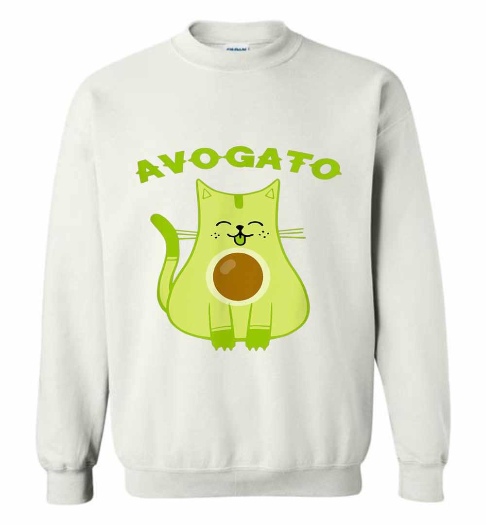 f86e1da94 Avogato Funny Avo-Gato Cinco De Mayo Cat Pun Sweatshirt