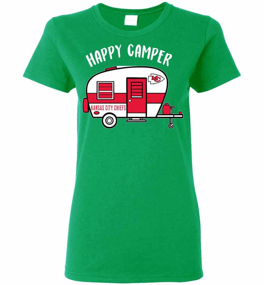 size 40 d707a c1b4c Kansas City Chiefs Happy Camper Women's T-shirt